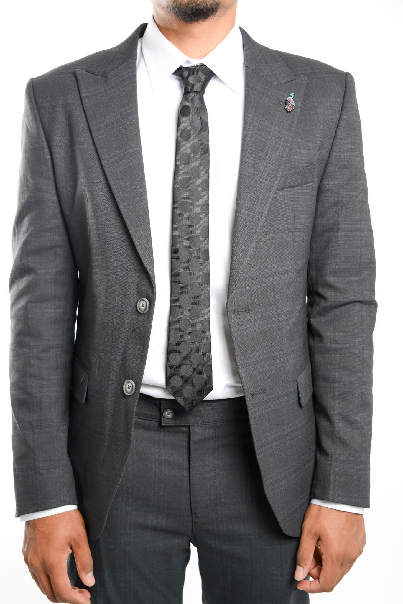 Euro Tonal Windowpane Blazer - Haight & Ashbury