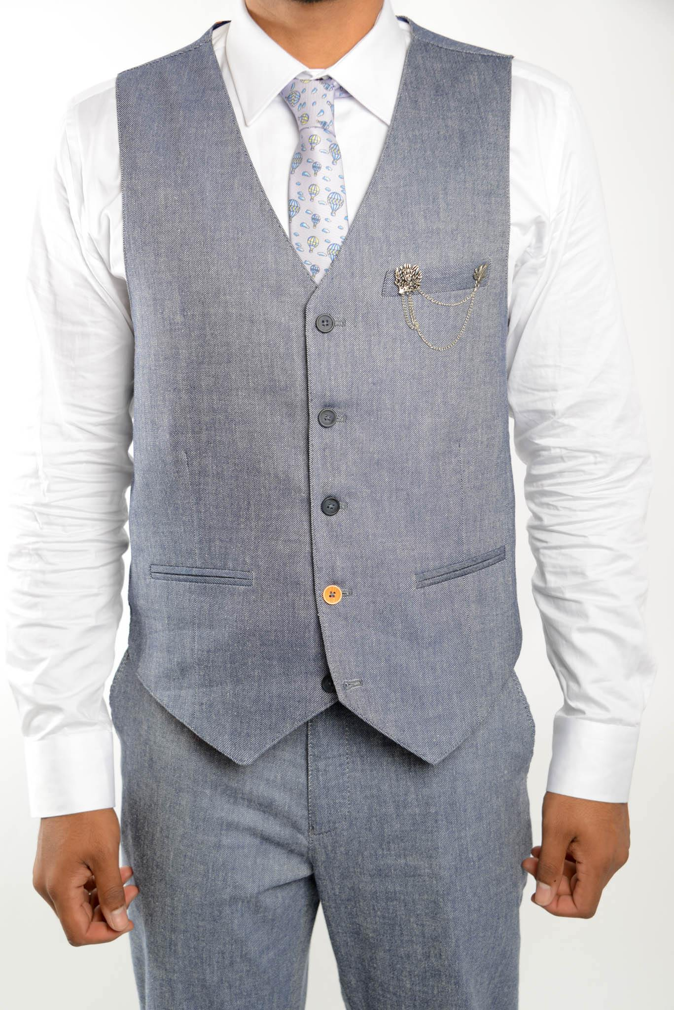 Euro Light Twill Vest - Haight & Ashbury