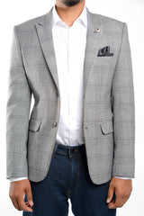 Euro Windowpane Blazer