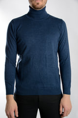 Leeds Slim Fit Heathered Turtleneck Euro Sweater