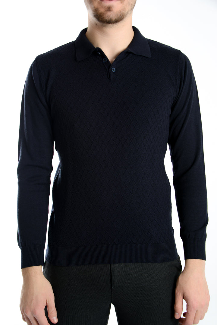 Z Euro LS Diamond Polo Sweater
