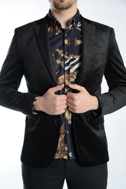 Northwood Bird's Eye Velvet Blazer