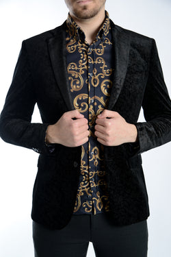 Northwood Leaf Velvet Blazer