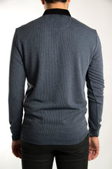 Long Sleeve 1/4 Zip Stripe Pullover Polo