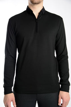 Long Sleeve 1/4 Zip Pullover Polo
