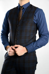 Bank Plaid Vest