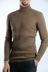 Cambridge Ribbed Turtleneck Euro Sweater