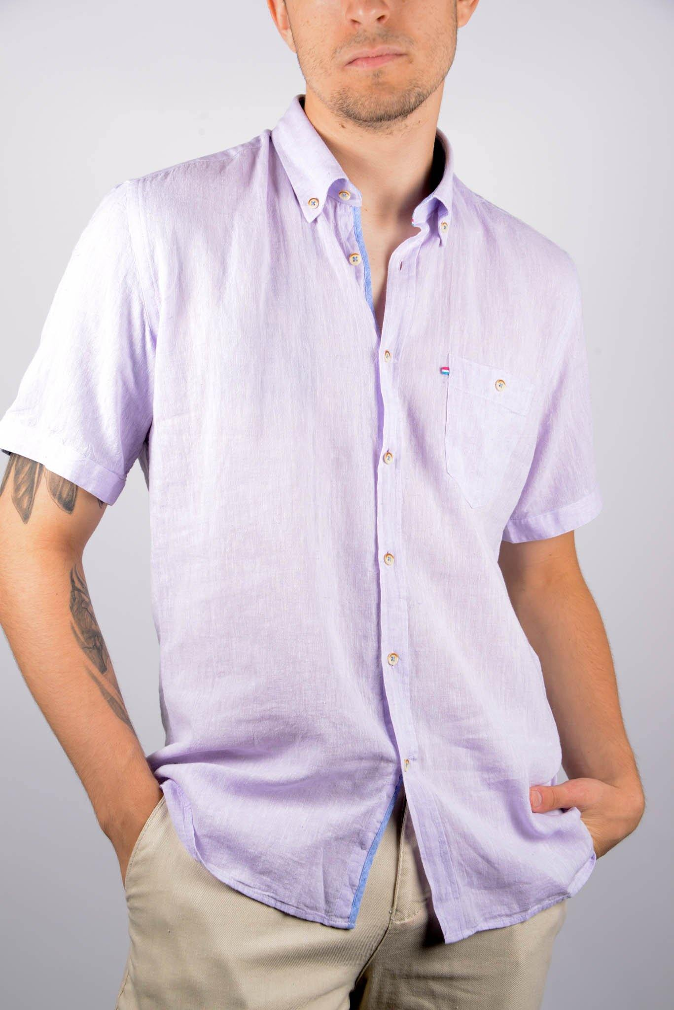 Short Sleeve Linen Shirt - Haight & Ashbury