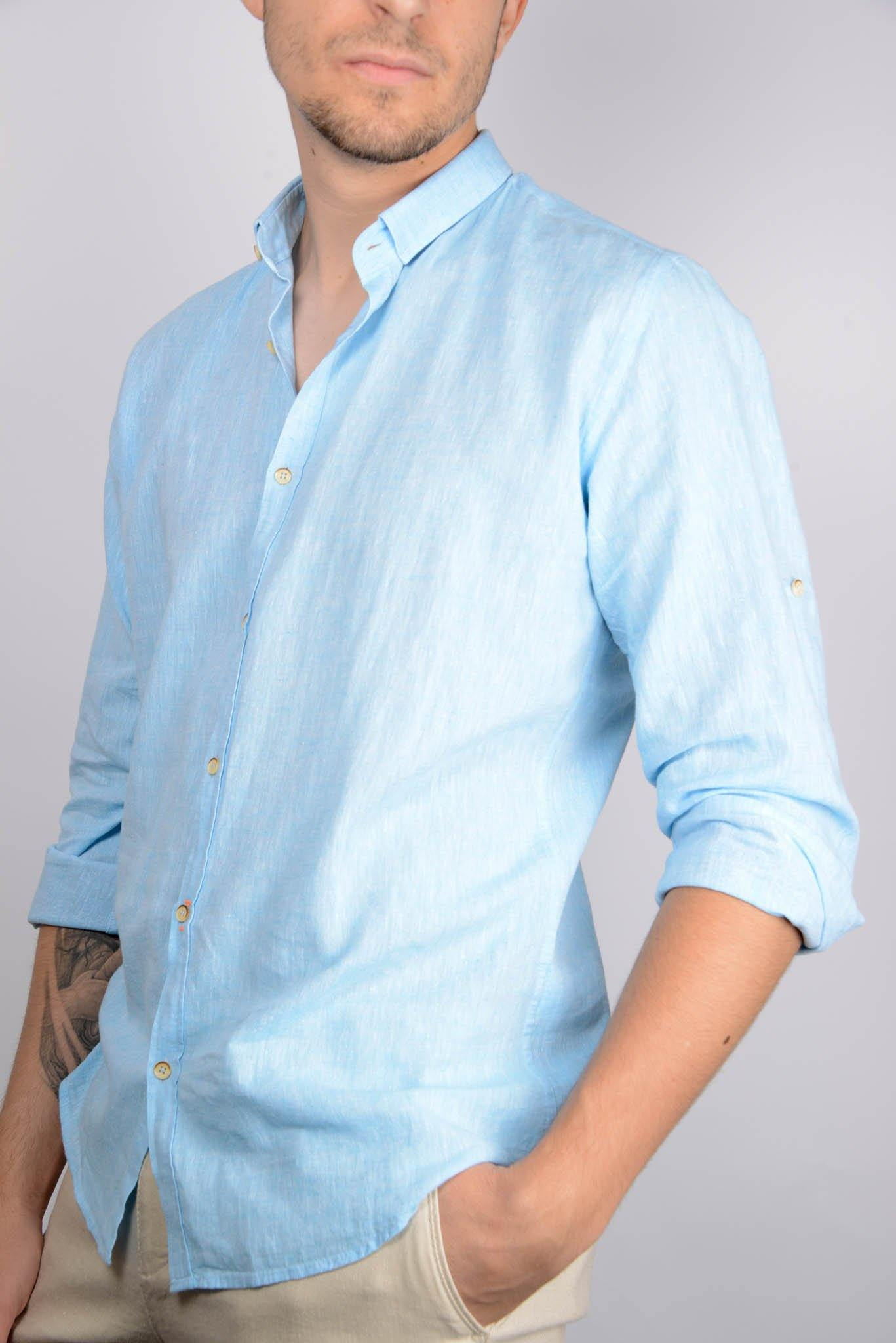 Long Sleeve Linen Shirt - Haight & Ashbury