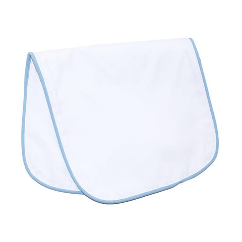Blue Piping Pique Cotton Burp Cloth