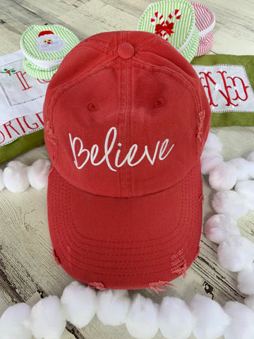 Believe Distressed Cap
