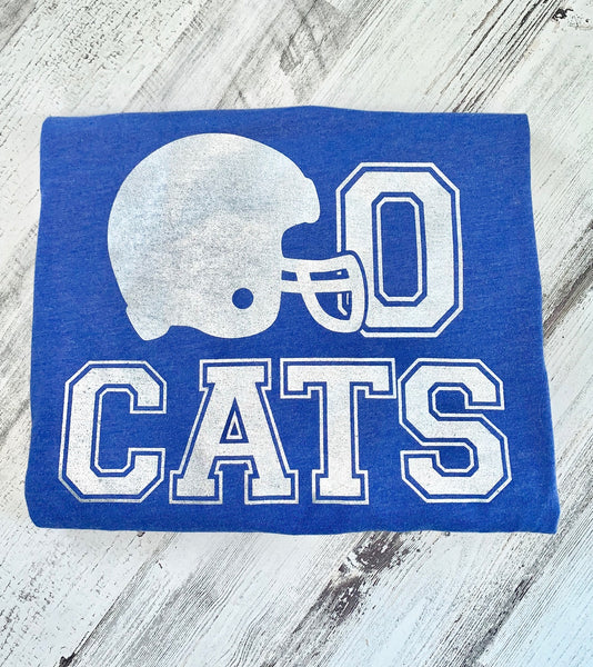 Go CATS Football Helmet Tee                                                                     (Adult Sizes)