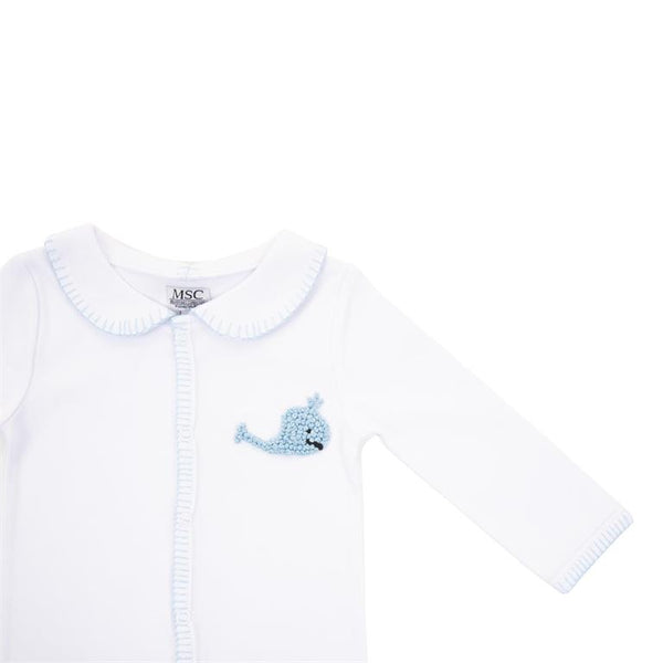 SALE Pima Cotton French Knot Whale Bodysuit  **NO PERSONALIZATION**