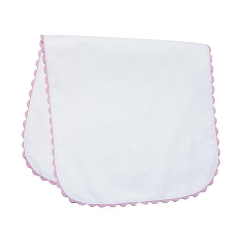 Pink Ricrac Pique Cotton Burp Cloth