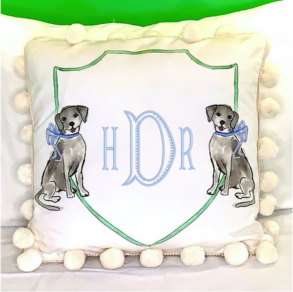 Grey Dogs Decorative Pillow
