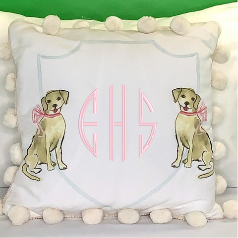 Yellow Dogs Decorative Pillow