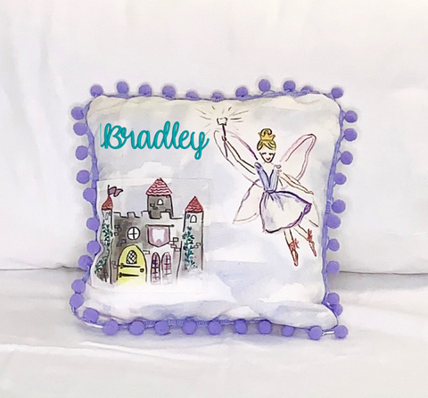 Watercolor Tooth Fairy Pillow