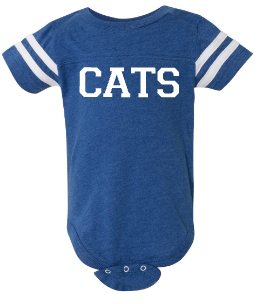 CATS Football Jersey Infant Bodysuit