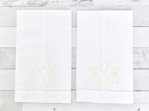 White Hemstitched Guest Towels