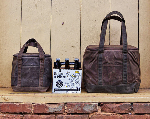 Waxed Canvas Lunch Cooler Tote (2 sizes)