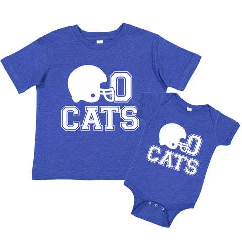 Go CATS Football Helmet Tee                                                                  (Children's Sizes)