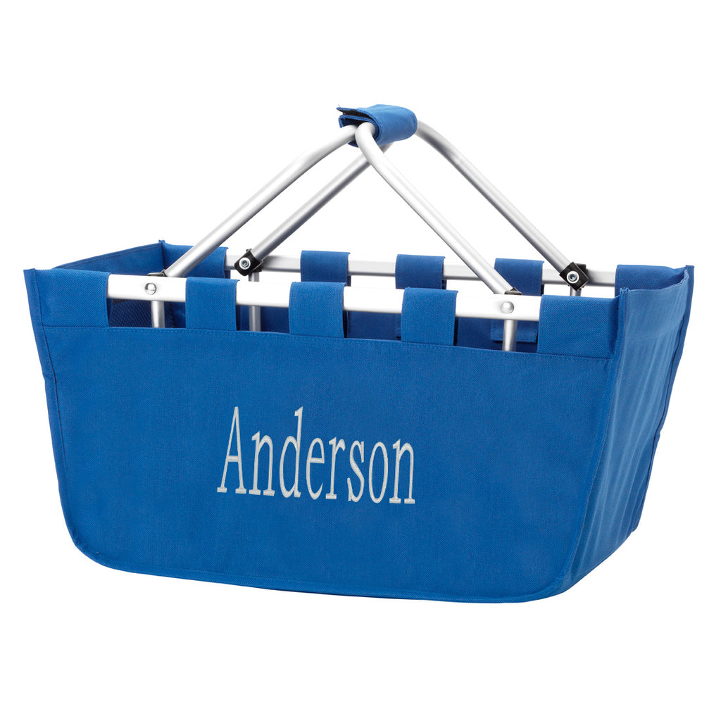 Clearance Royal Blue Market Tote Basket