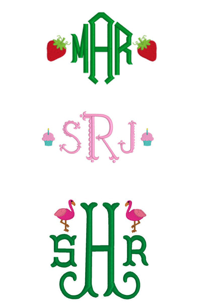 Monograms with Mini Embroidery Examples