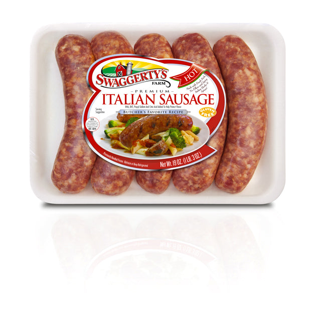 Premium Hot Pork Sausage Collection<br>(1 box, 3 rolls, 6 trays)