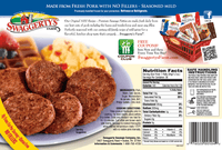 Swaggerty's Farm 45oz Premium Pork Sausage Patties (3pk) - Nutrition Facts