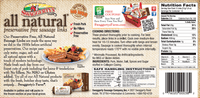 Swaggerty's Farm 24oz All Natural Pork Sausage Links - Nutrition Facts