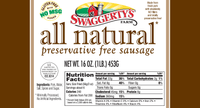 Swaggerty's Farm All Natural Roll Pork Sausage - Nutrition Facts