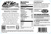 Swaggerty's Farm 12oz Maple Pork Sausage Links - Nutrition Facts