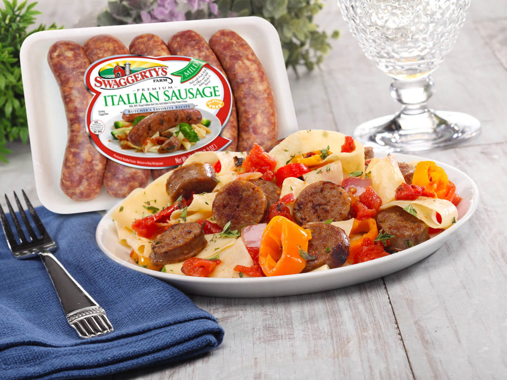 Premium Mild Italian Pork Dinner Sausage<br>(8 tray packs)