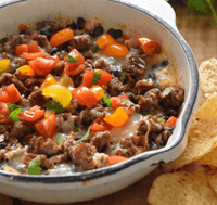 Swaggerty's Farm Queso Fundito Recipe Idea with All Natural Sausage