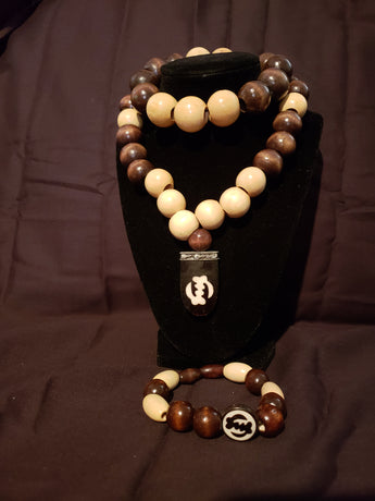 Gye Nyame Necklace Set