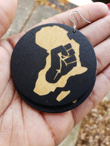 Black Power Earrings