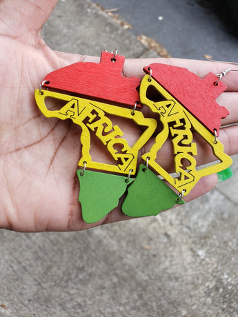 Rasta Africa Earrings