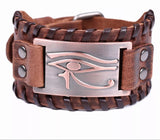Eye of Horus Leather Bracelet