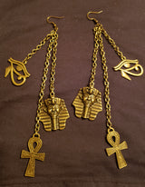 Egyptian Layered Chain Earrings