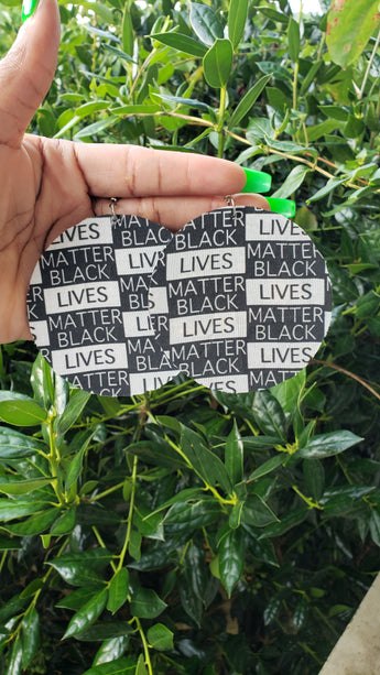 Black Lives Matter Disc Earrings