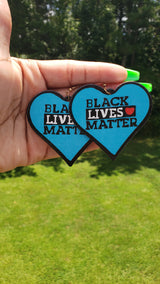 BLM Heart Earrings