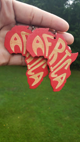 Vibrant Africa Map Earrings