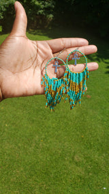 Ankh Chandelier Earrings
