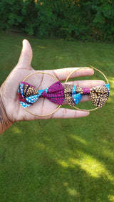 Ankara Bow Tie Earrings