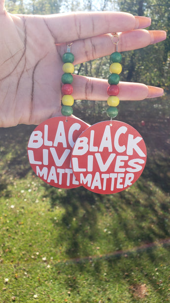 Red/White Black Lives Matter Earrings