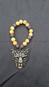Leopard Pendant Necklace/Bracelet Set