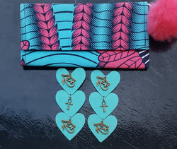 Turquoise Wallet Set