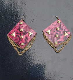 Studded Snake Earrings