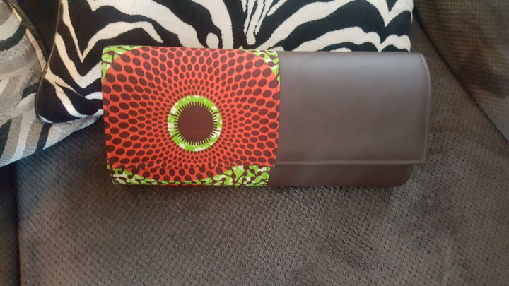 African Print Long Body Clutch