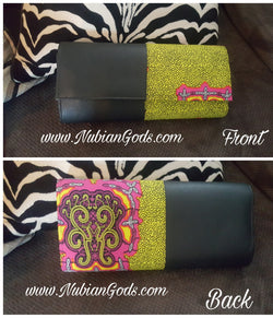 Pink and Lime Hard Body Clutch